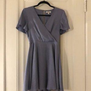 Express Periwinkle Blue Wrap Dress